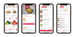 A composite image showing screenshots from Vietnamese social commerce startup Mio's app