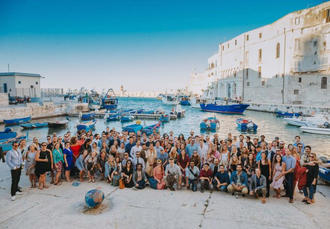 Expensify team in Italy in 2018