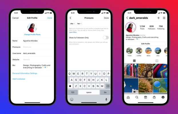 Instagram adds a dedicated spot for your pronouns - techcrunch