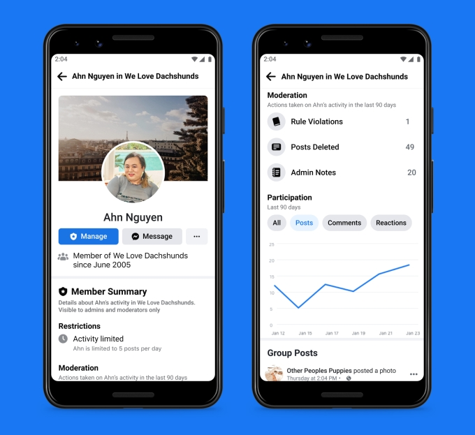 Facebook rolls out new tools for group admins, including automated moderation assists – TechCrunch