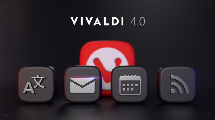 Vivaldi 4.0 launches with built-in email and calendar clients, RSS reader