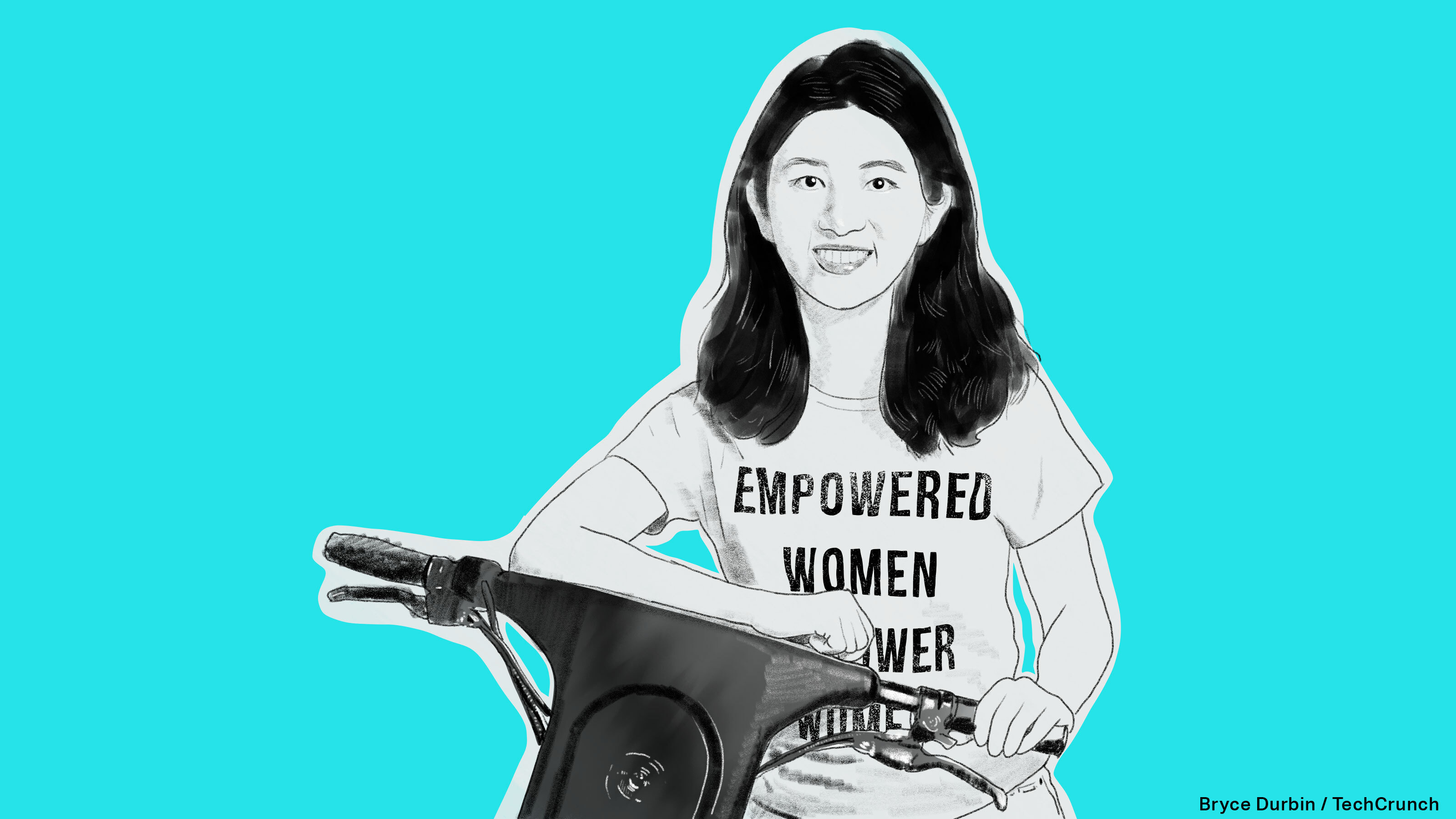 An illustration of Veo founder Candie Xie