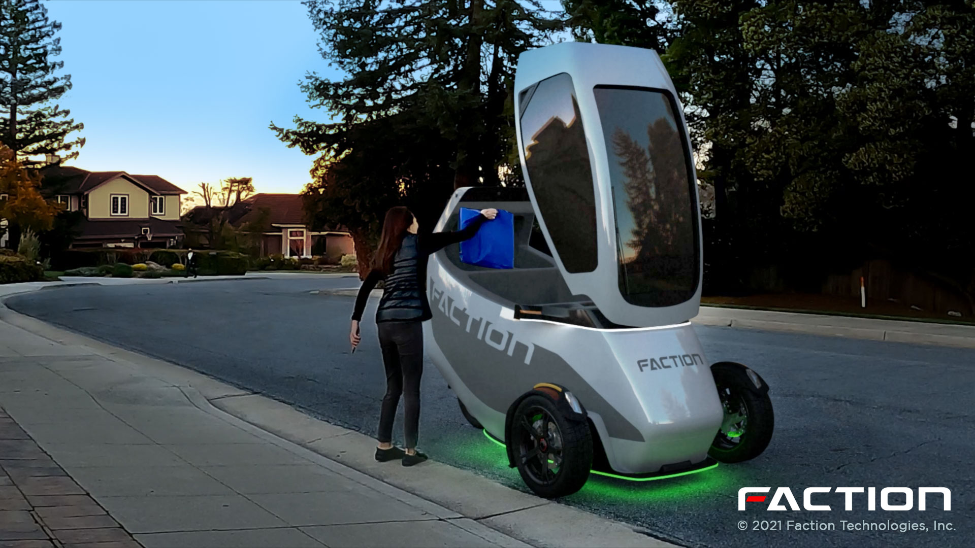 Faction raises $4.3M to deploy 3-wheeled EVs for driverless delivery