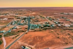 An aerial photograph of White Cliffs, an opal mining community in Australia