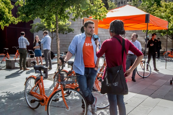 Launch of bikeshare in seattle 2017