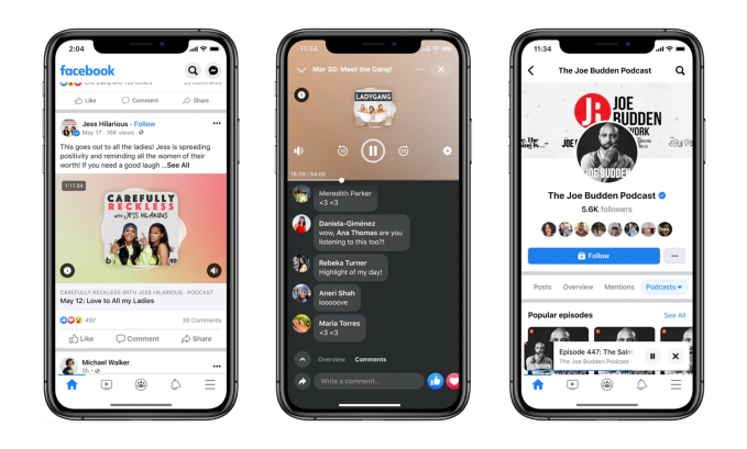Facebook officially launches Live Audio Rooms and podcasts in the U.S. – TechCrunch 25
