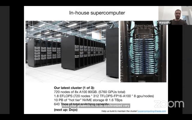 Tesla backs vision-only method to autonomy using effective supercomputer thumbnail