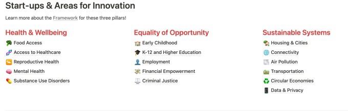 Three broad pillars of Racial Inequity Drawdown Document
