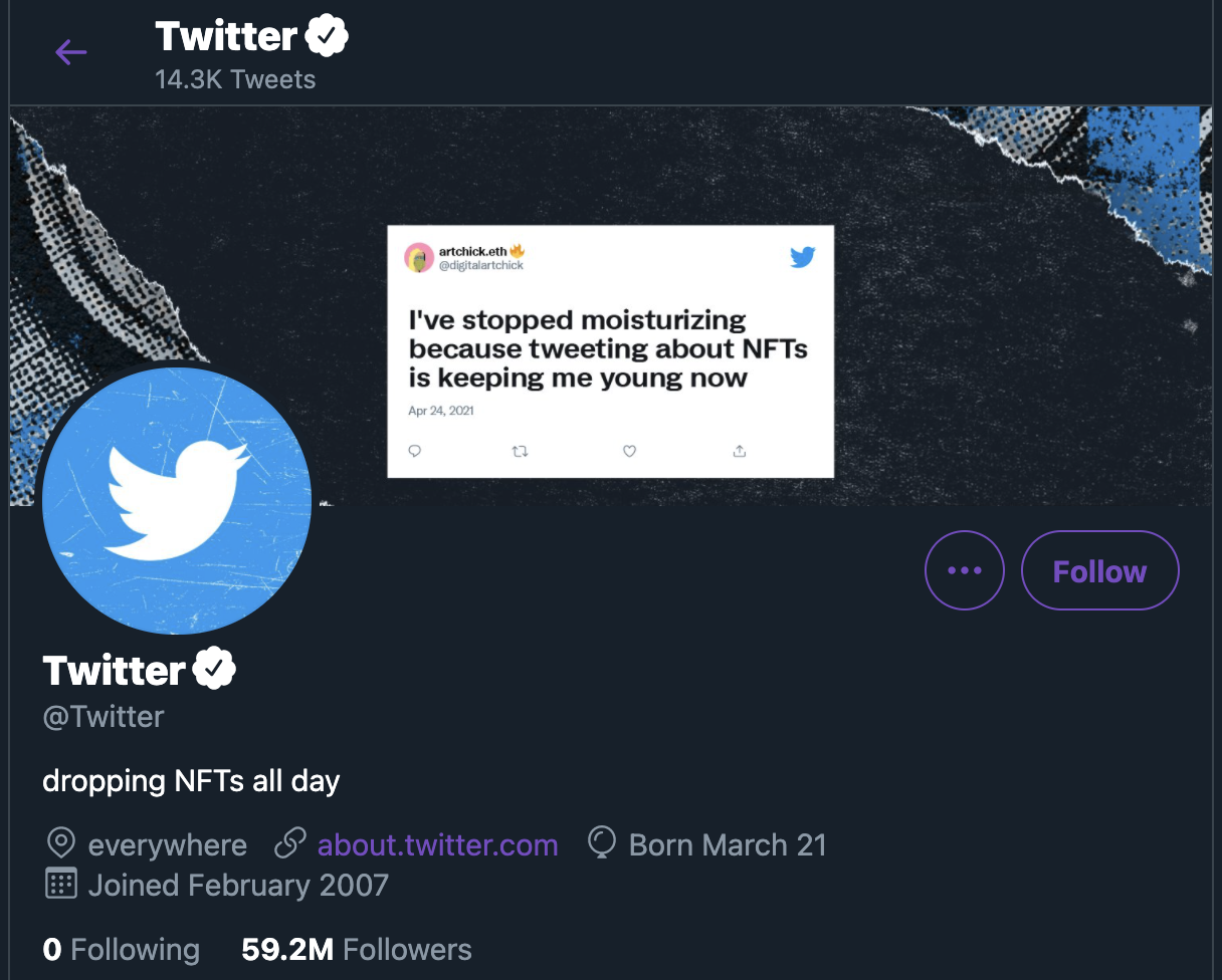 Twitter is making NFTs now, apparently