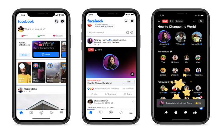 Facebook officially launches Live Audio Rooms and podcasts in the US |  TechCrunch