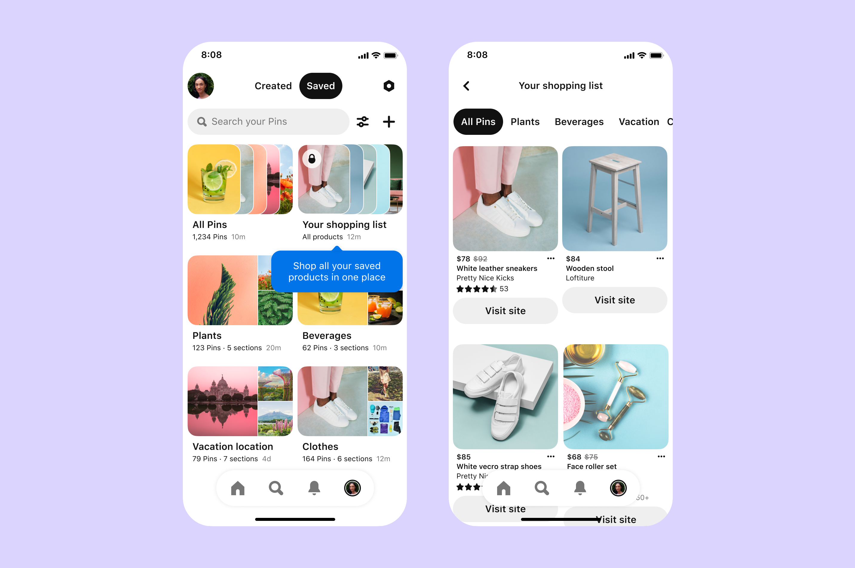 Pinterest adds a Shopping List feature to round up your saved ...