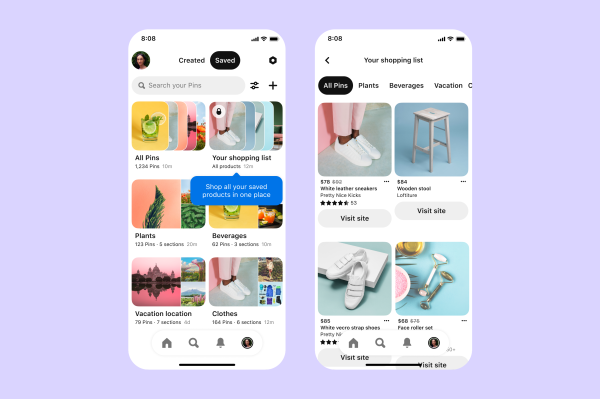 Pinterest adds a Shopping List feature to round up your saved products – TechCrunch