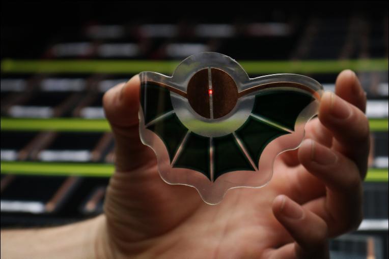 A bat-shaped organic photovoltaic module from Dracula Technologies