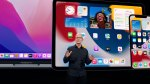 Tim Cook presents at WWDC 2021