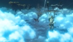 Link flies over the clouds in this shot from the new Zelda game.