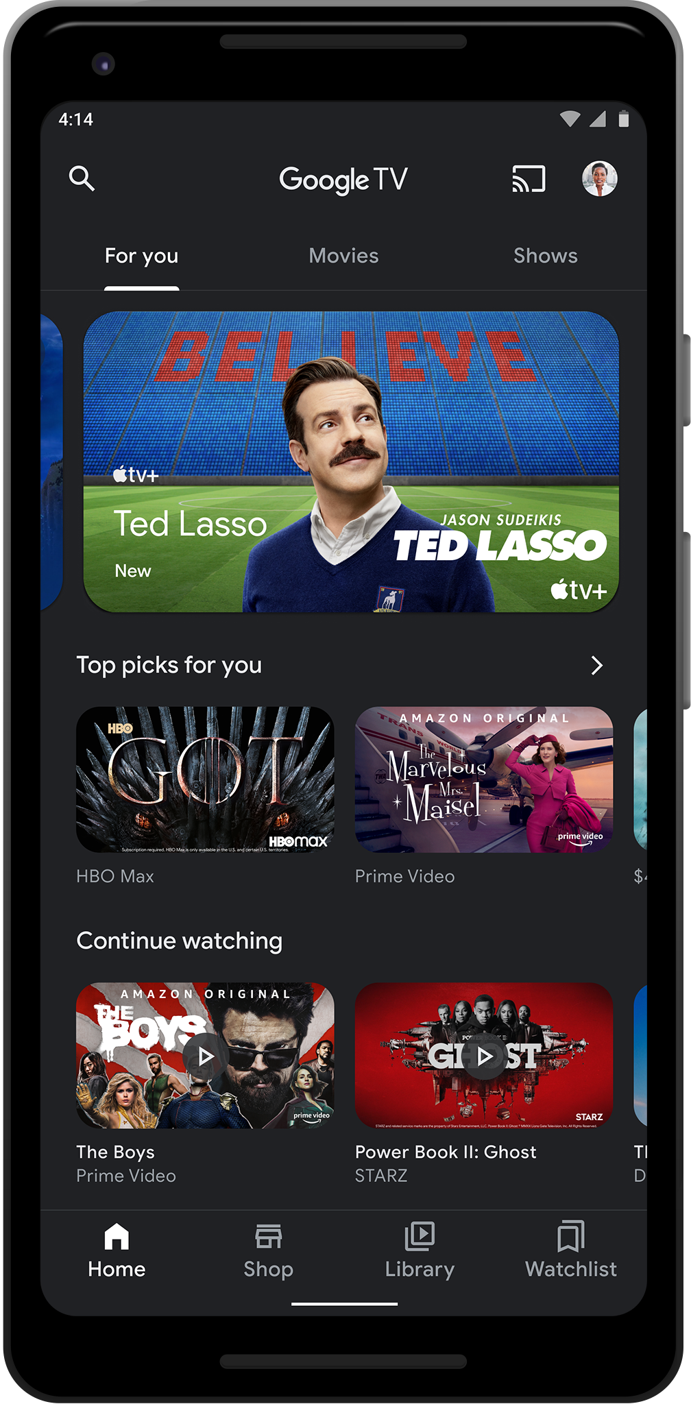Google TV mobile app redesign adds new services and recommendations