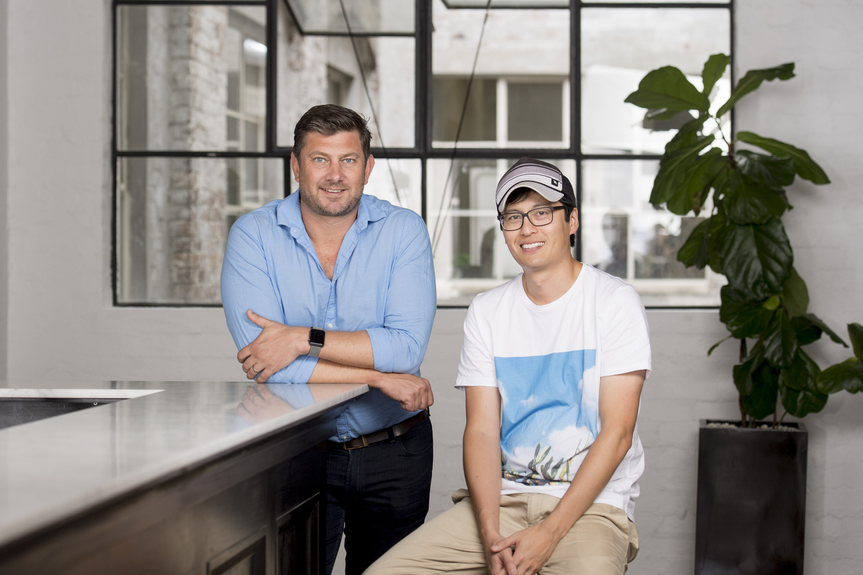 A photo of Employment Hero co-founders Ben Thompson and Dave Tong