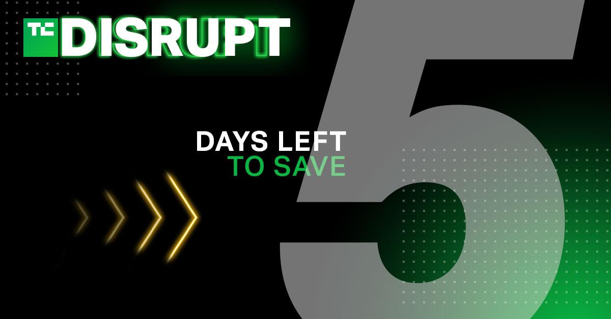 Disrupt 2021 5 days left