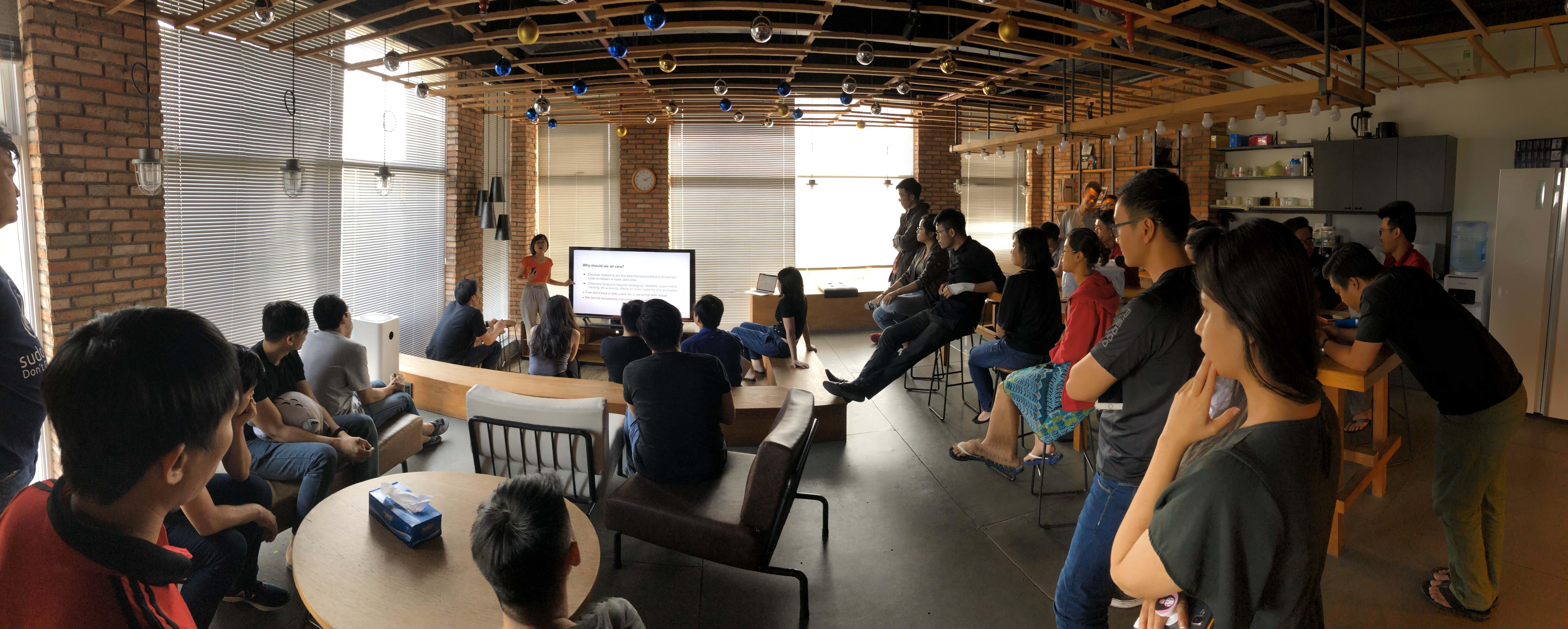 A photo of digital comics platform INKR's team