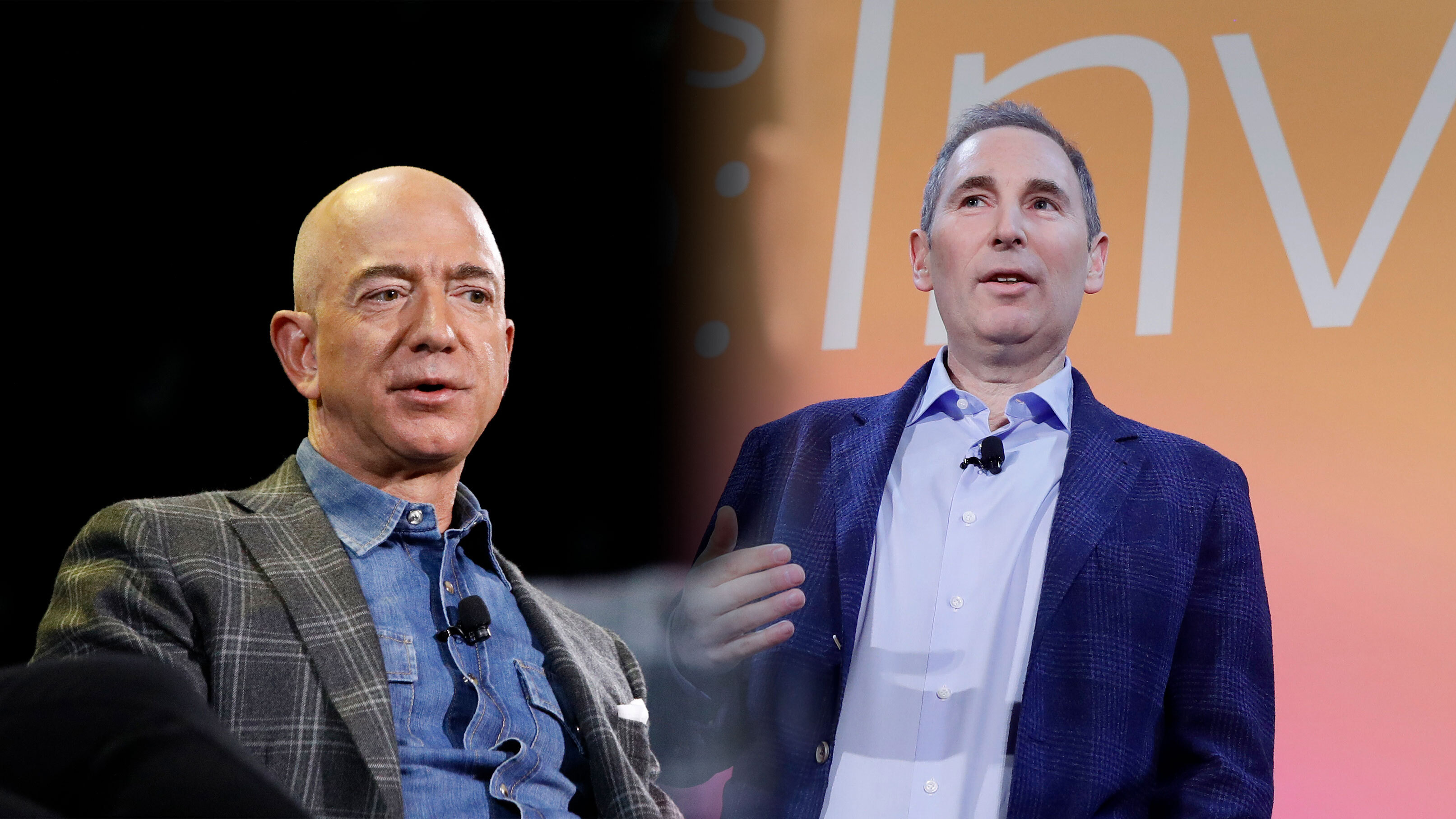 Jeff Bezos, executive chairman and Andy Jassy, CEO at Amazon