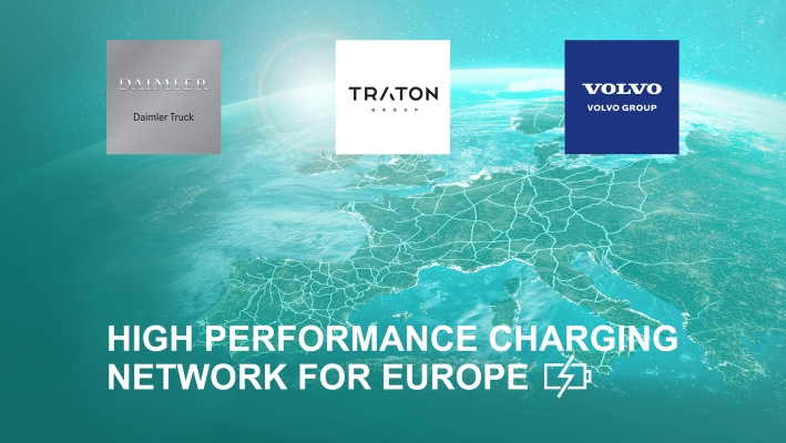 high performance charging network volvo group daimler traton 3
