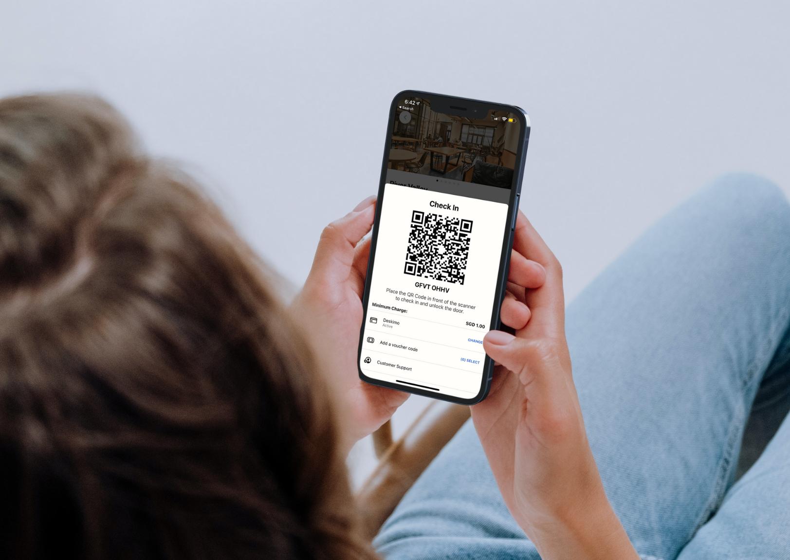 Deskimo app's QR code