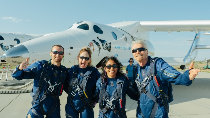 Virgin Galactic and Richard Branson celebrate launch of first passengers into space   TechCrunch