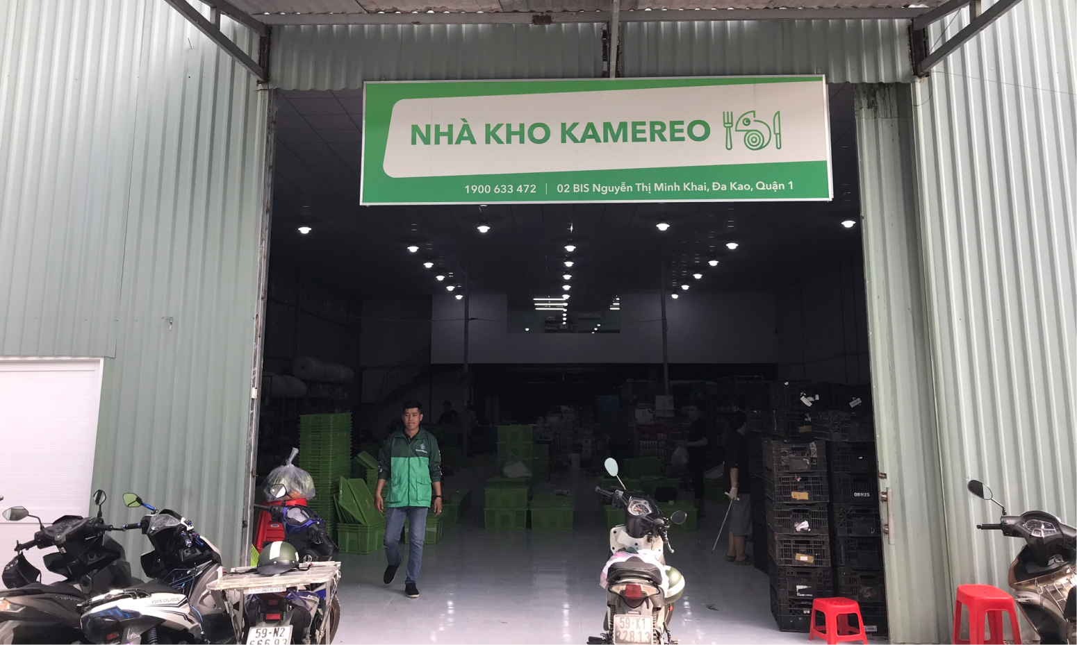 One of Kamereo's warehouses for fresh farm products