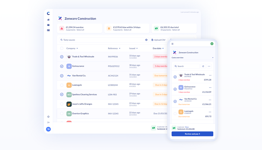 Comma payments dashboard