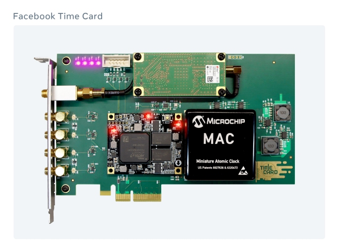 Facebook time keeping PCI card