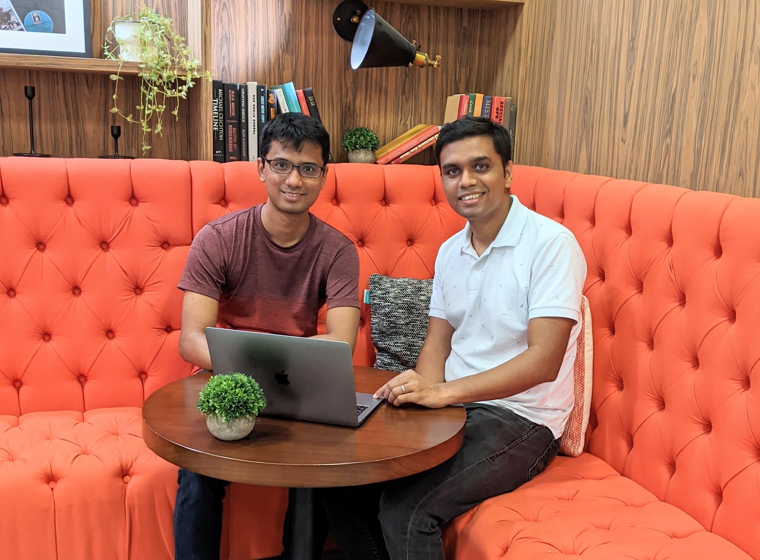 A photo of Nektar.ai founders Aravind Ravi Sulekha and Abhijeet Vijayvergiya