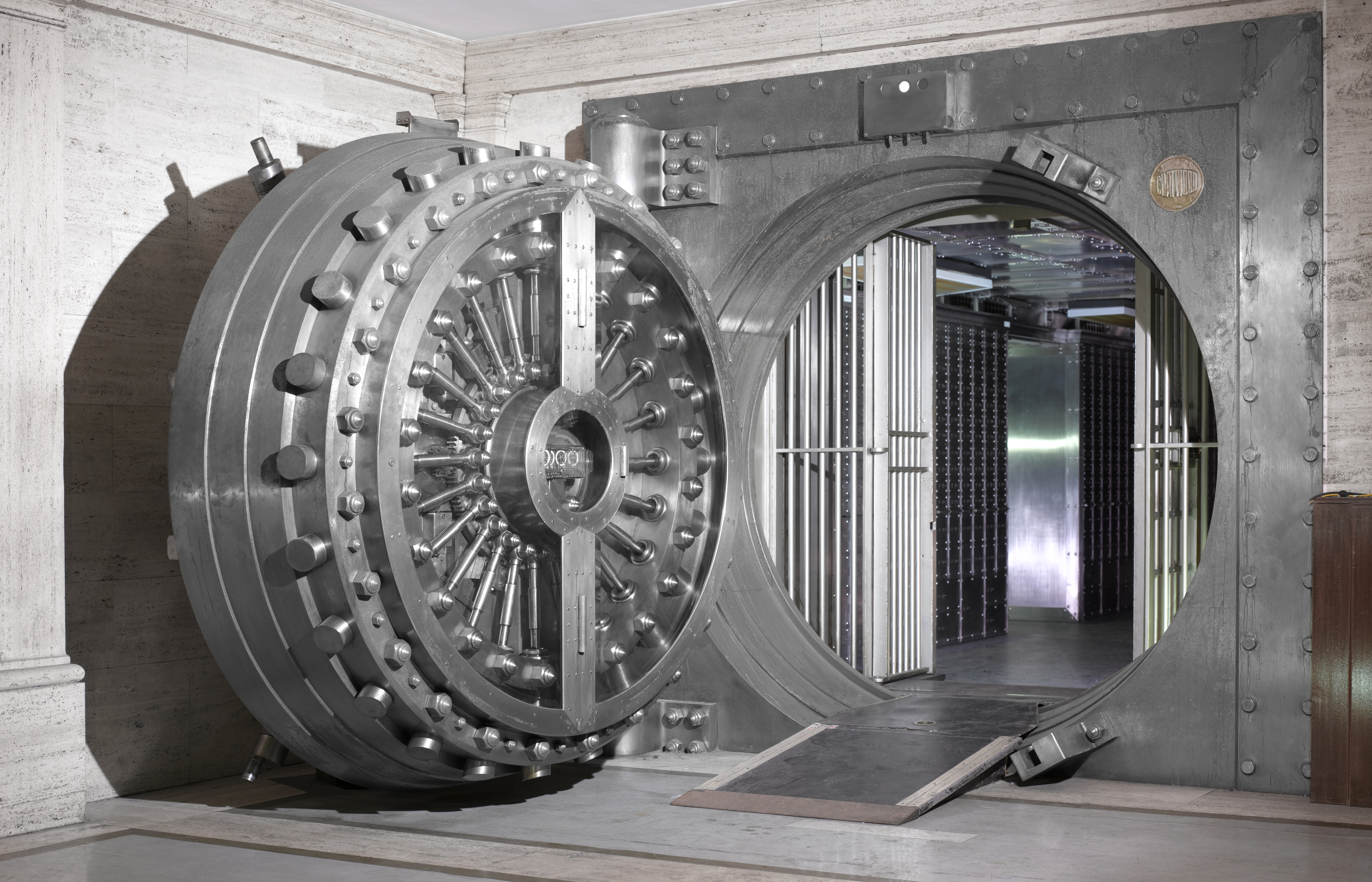 Image of a bank vault.