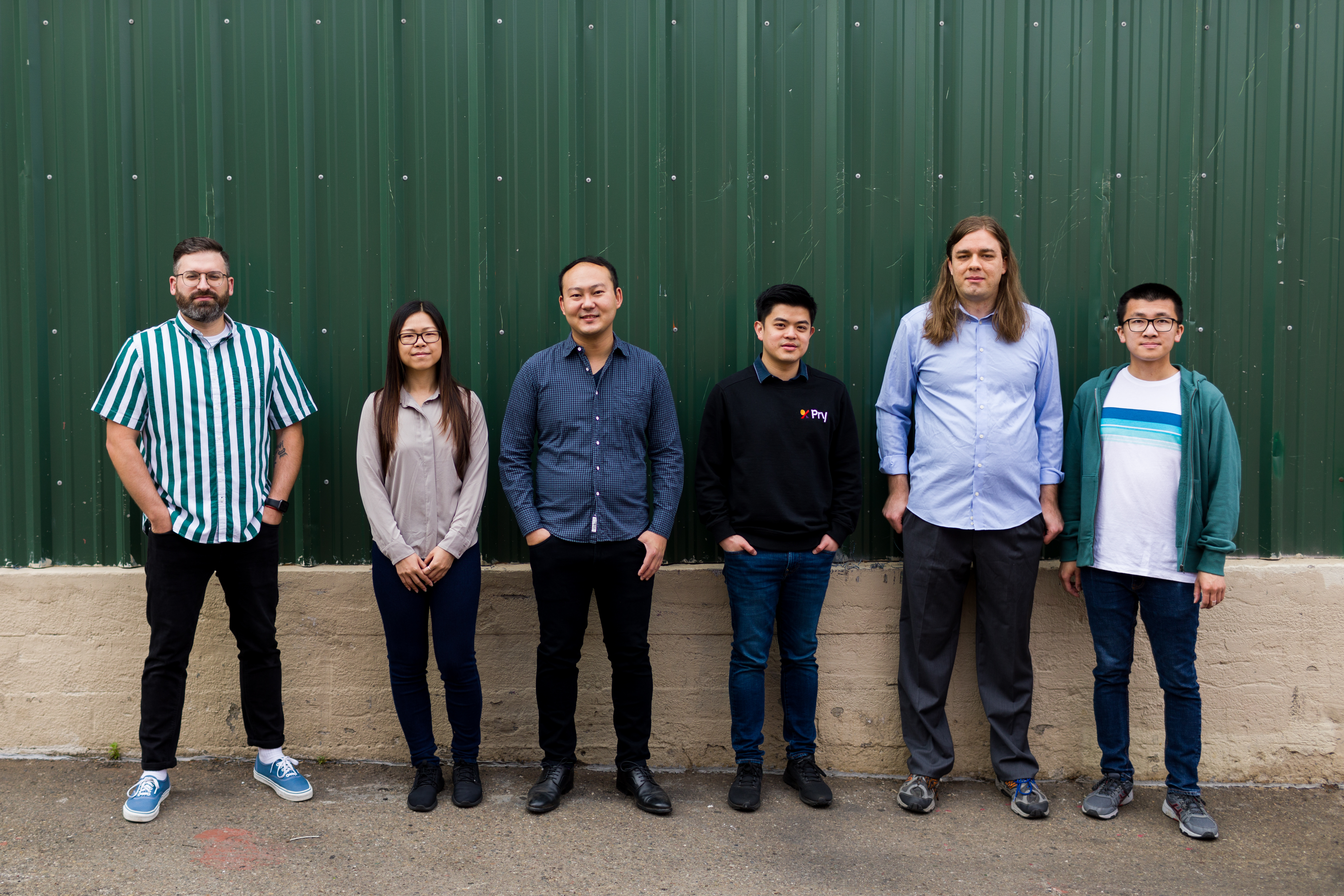 A group photo of Pry Financials' team
