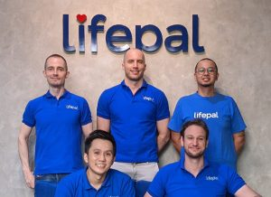 A group photo of Indonesian insurtech startup Lifepal's team