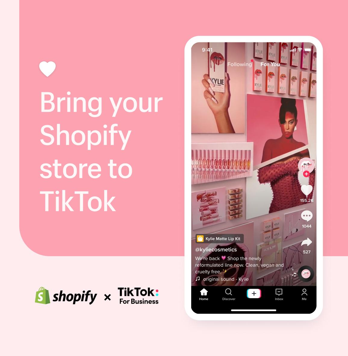 TikTok expands Shopify partnership in US, UK, & Canada