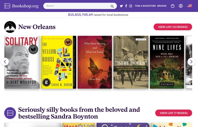 With sales momentum, Bookshop.org looks to the future in struggle with Amazon - TechCrunch
