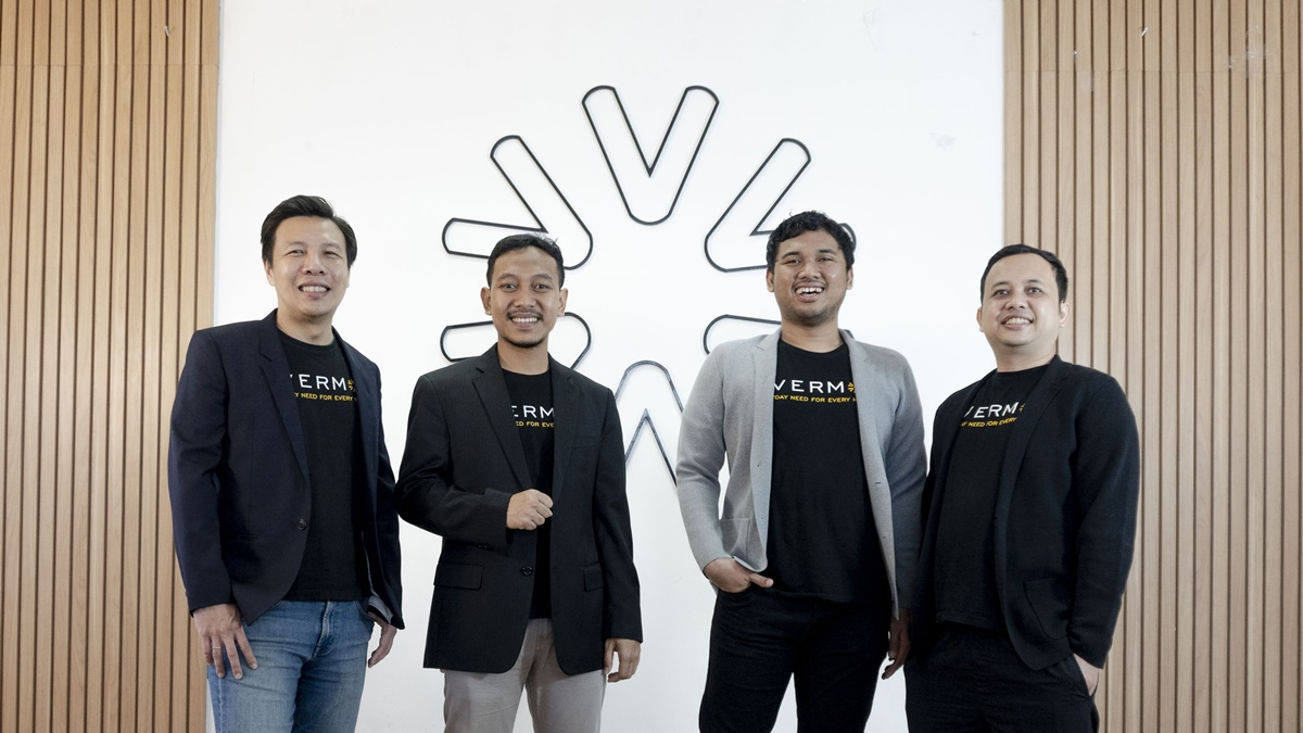 Evermos' founding team (from left to right): Arip Tirta, Ghufron Mustaqim, Iqbal Muslimin and Ilham Taufiq