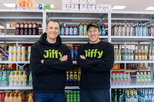 Jiffy co founders Vladimir Kholiaznikov L and Artur Shamalov R