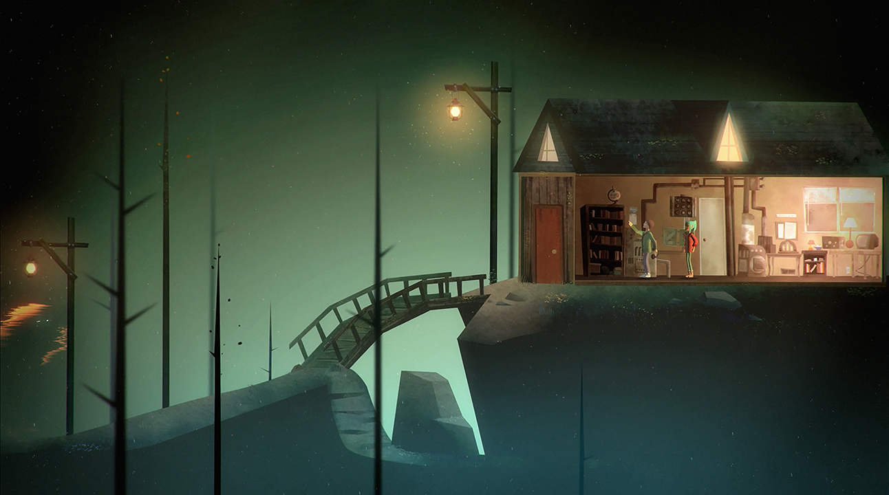 "A screenshot from Night School Studio game ""Oxenfree"""