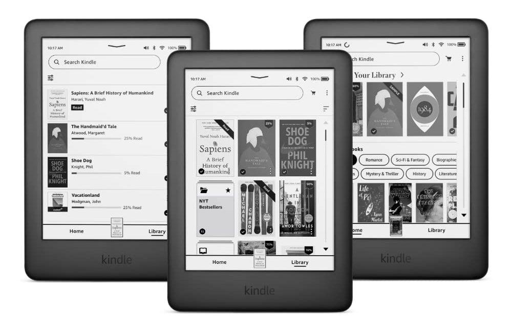 Amazon lanza el rediseño del software Kindle para facilitar la navegación