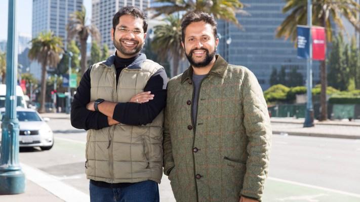 Spotnana CTO and cofounder Shikhar Agarwal and CEO and cofounder Sarosh Waghmar