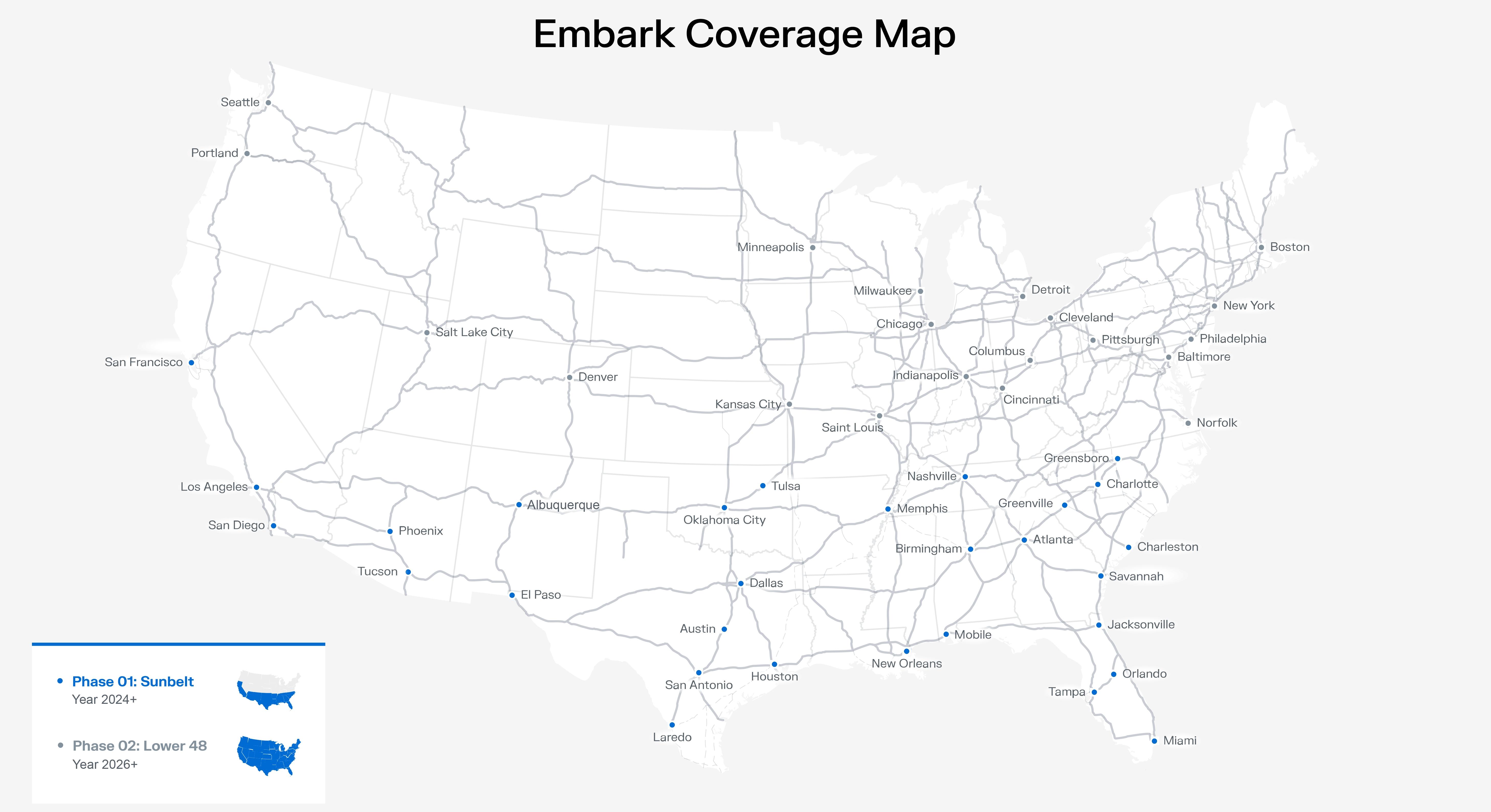 Ryder to build logistics network with autonomous trucking company Embark