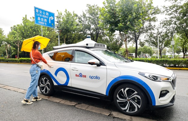 photo of Chinese tech giant Baidu begins publicly testing Apollo Go robotaxis in Shanghai image