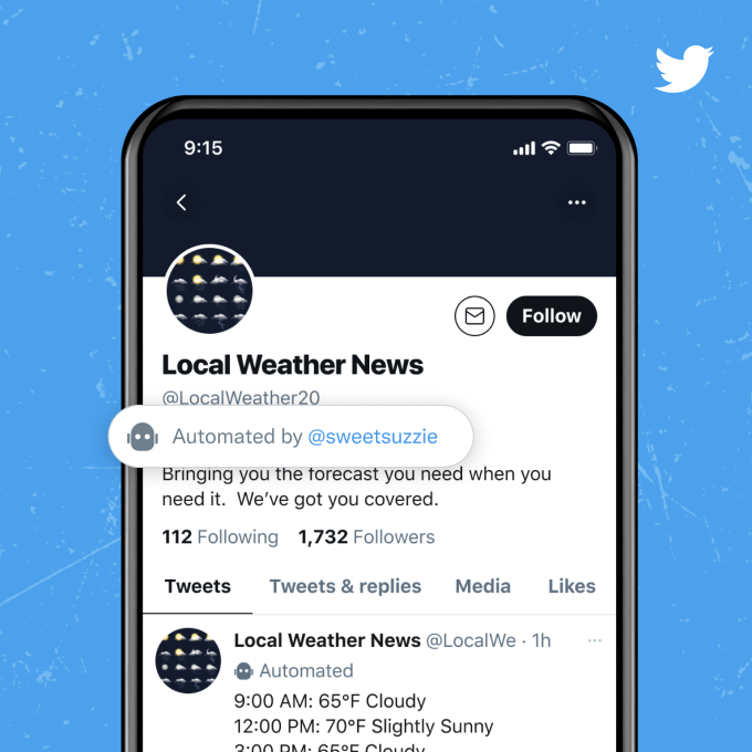 Twitter introduces a new label that allows the 'good bots' to identify themselves – TechCrunch
