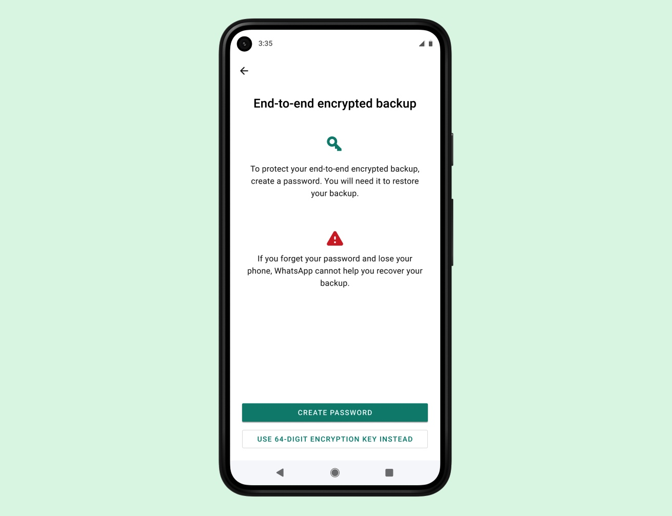 WhatsApp will finally let users encrypt their chat backups in the cloud