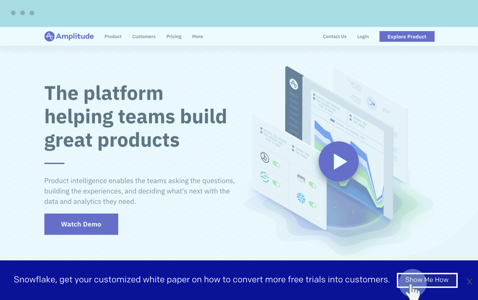 example of a personalized landing page