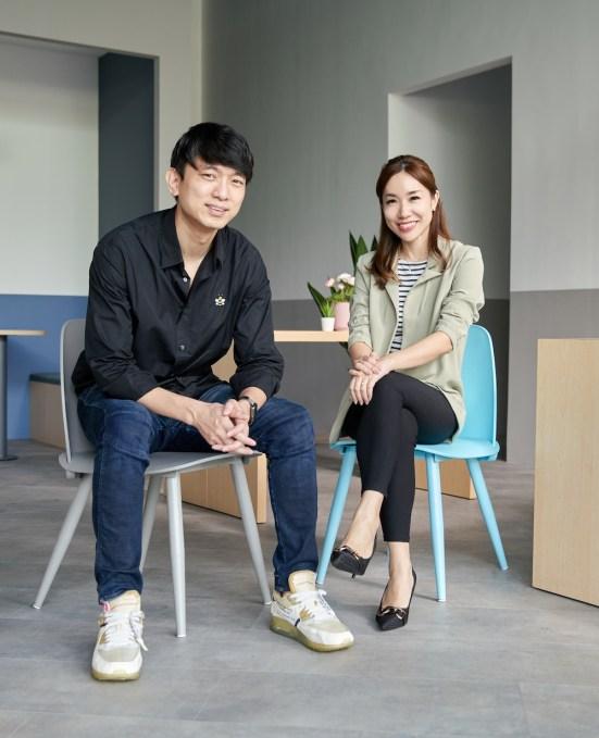 Geniebook co-founders Neo Zhizhong and Alicia Cheong