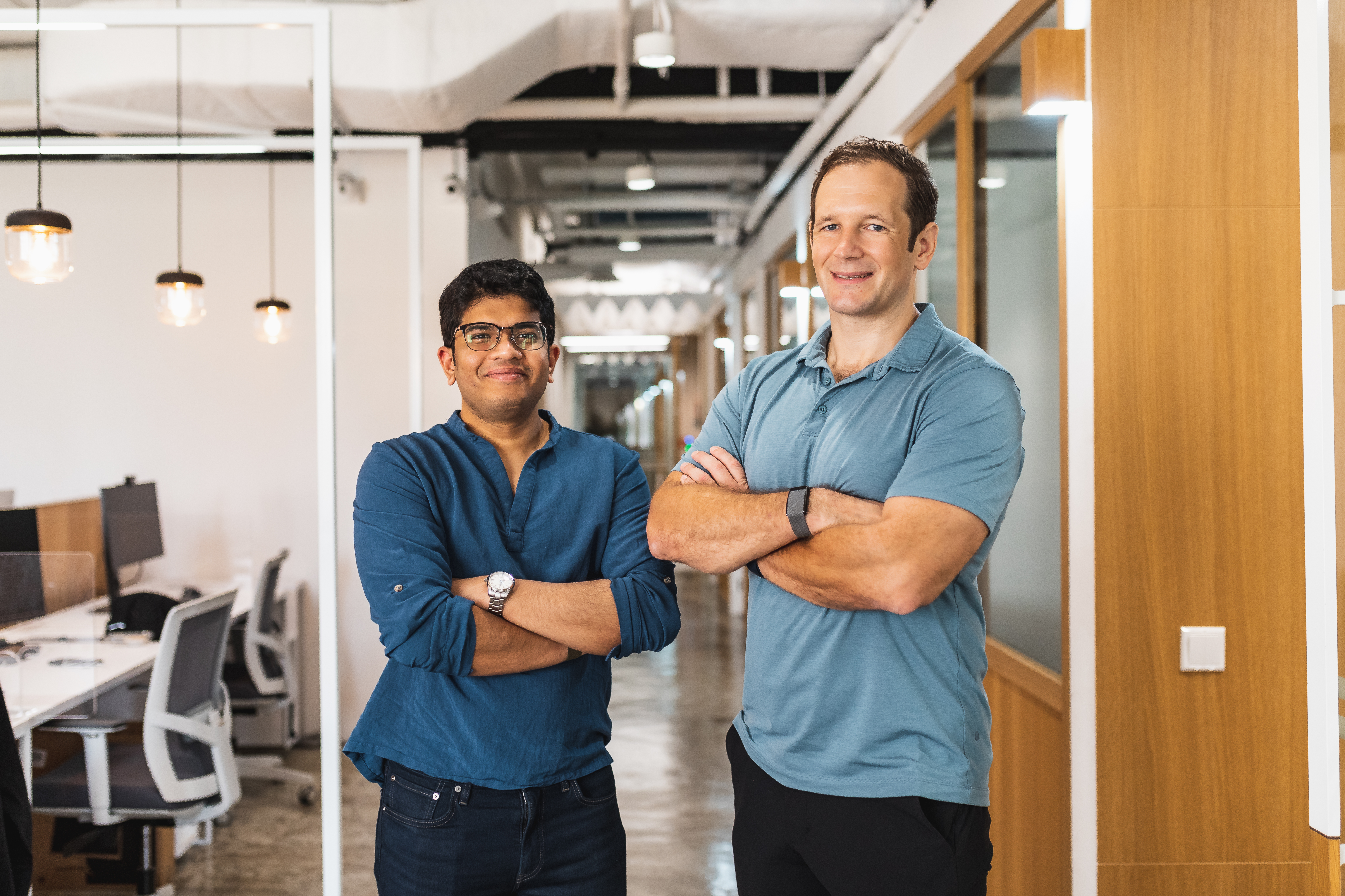 Greywing founders Nick Clarke and Hrishi Olickel