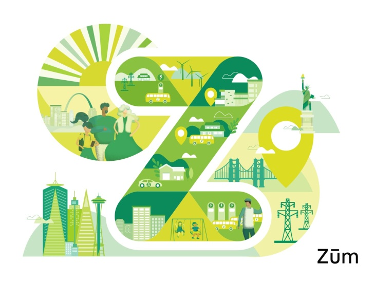 Изображение студенческой транспортной экосистемы Zum
