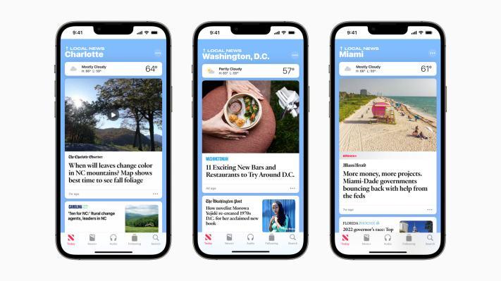 Apple News đang mở rộng phạm vi phủ sóng địa phương của mình đến ba thành phố khác của Hoa Kỳ – TechCrunch